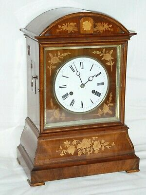 Antique Beha Black Forest Cuckoo Clock Twin Fusee Inlaid Bracket Clock