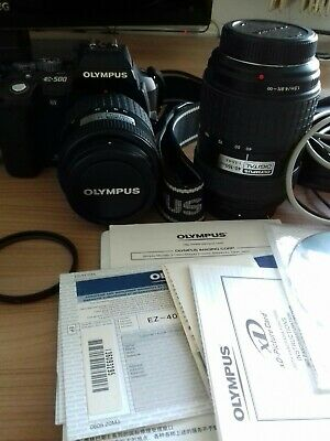 Olympus EVOLT E-500 8,0 MP Digitalkamera - Schwarz (Kit mit 14-45mm f/3.5-5.6...