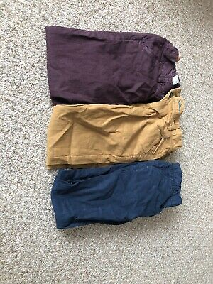 Boys Chinos Trousers Next Size Years 11 Burgundy Stone Blue Navy