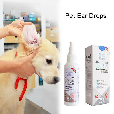 Antibacterial Ear Drops Cleanser Dog Pet Cat Treatment Infection Cleaning 60ml