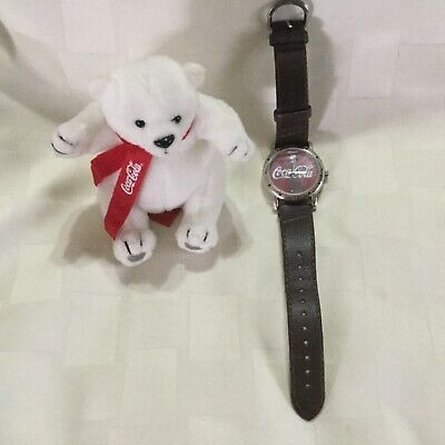 Coca Cola Watch WORKS Brown with Plush Bear 2002, A1
