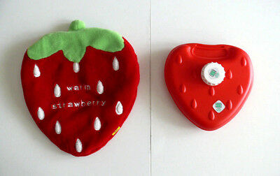 Rare! Strawberry Hotwater Bottle & Cover