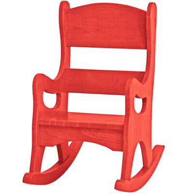 Amish Buggy Toys Kid's Play Wooden Furniture Rocker, Red CPSIA Kid Safe Finish