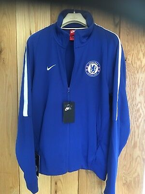 Mans Boys Youths Nike Chelsea Track Suit Top Blue Football Training Mens Small