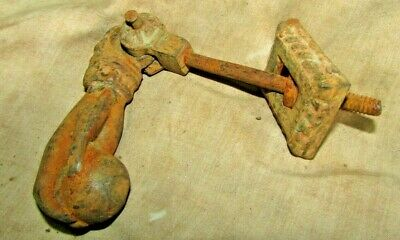 Antique Cast Iron Door Knocker Hand Holding Ball 19th rare Egyptian Hand made #4