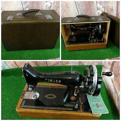 Vintage 1936 Singer 99K Manufacturing Company: Antique Sewing Machine heavy duty