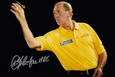 SALE JOHN LOWE DARTS HAND SIGNED PHOTO AUTHENTIC + COA - 12x8