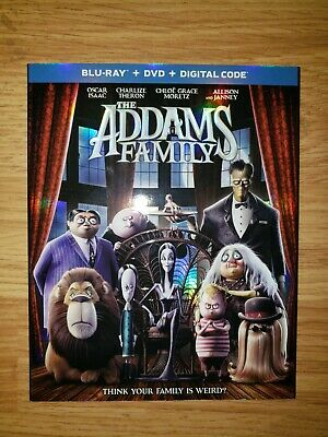 THE ADDAMS FAMILY (Blu-ray + DVD + Digital Code) 2020 BRAND NEW W/SLIPCOVER