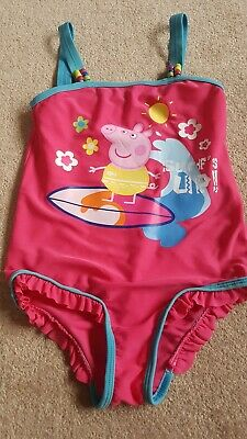 Girls M & S Peppa Pig Swimsuit 6-7yrs