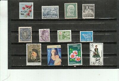 Worldwide Collection of 12  Different Used Stamps B045