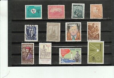 Worldwide Collection of 12  Different Used Stamps B043