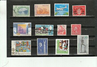 Worldwide Collection of 12  Different Used Stamps B046