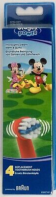 4 x Oral B Stages Power Kids MICKY MAUS Aufsteckbürsten Mickey Mouse 4-er in OVP