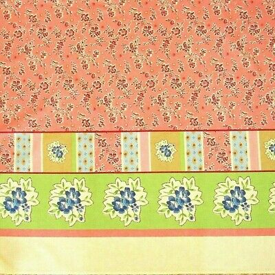 Floral Border Fabric Pink Green Table Skirt Home Decor Textiles Material