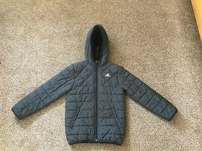 adidas blue hooded puffer,bubble duck down winter coat jacket  Age 7 - 8