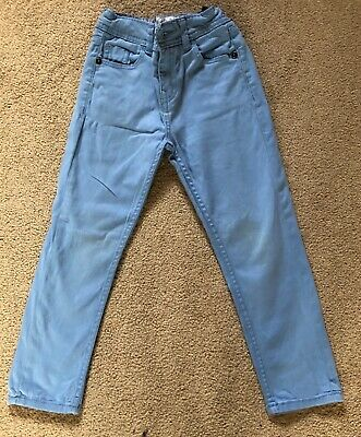 Boys pale blue Fat Face trousers 6 years
