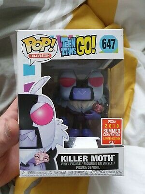 Teen Titans Go Vinyl **SDCC 2018 Exclusive** U.K Seller! Killer Moth Funko Pop