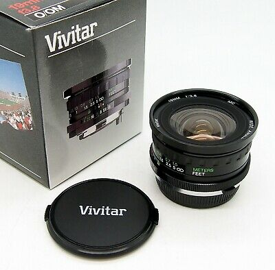 Superb Vivitar 19mm F3.8 in Olympus OM Mount Mint & Boxed with Caps