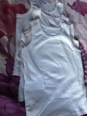 Boys 3 Thermal Vests 11-12 Years White
