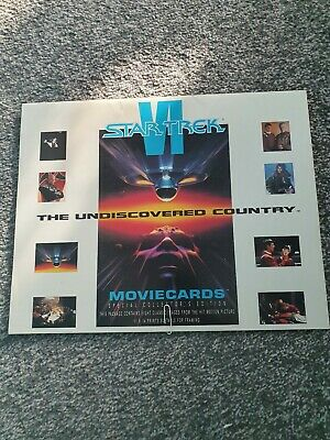 star trek the undiscovered country movie cards special collectors edition