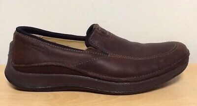 Clarks Active Air - Brown Leather Slip On Comfort Loafers Size UK 7 G EU 41