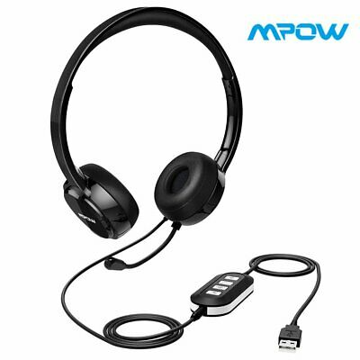 Mpow USB Wired Gaming Headset Headphone w/Mic Noise Cancelling for Windows Mac