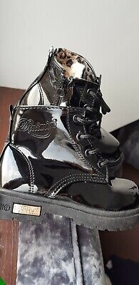 Girls Boots Size 9  New Unused Black Peyton Lace Up Zips