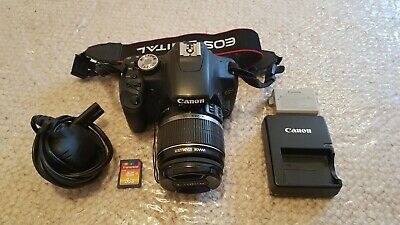 Canon EOS 500D 15.1MP Digital SLR Camera - Black (with EF-S 18-55mm IS Lens)