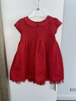 baby girl red dress 3-6 months
