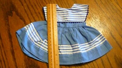 """VINTAGE FRENCH PINAFORE DRESS for ANTIQUE BISQUE BLEUETTE SISTER SIZE DOLL 13"""""""