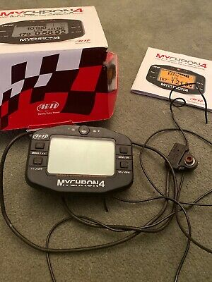 Aim mychron 4 with magnetic Lap Timer with Sensor Leads & Temp Gage Boxed