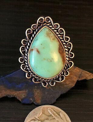 Native American dry creek Turquoise Sterling Silver Navajo arrow Ring 7g Size 7