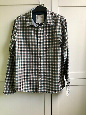 FAT FACE boys age 12-13 years blue green checked shirt casual smart top check