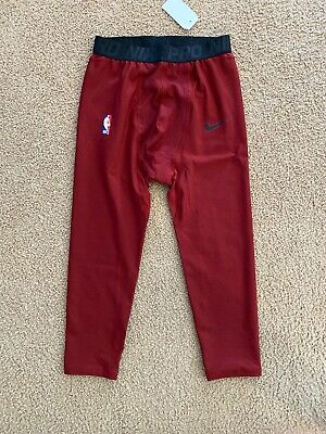 Nike Lebron James Hyperstrong NBA Player Issued Tights Maroon Rare Compression