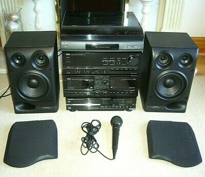 Quality Hi-Fi System Amp/Tape-Deck/CD Player/Turntable/Speakers -Free Microphone