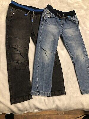 Boys Jeans 5-6 Years. 2 Pairs. Elasticated Waist Band.