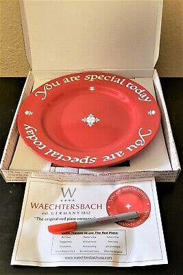 You Are Special Today Waechtersbach Germany RED PLATE - New in Box