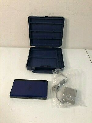 Nintendo DS Lite Cobalt Blue and Black Console - CONSOLE, CARRY CASE, & CHARGER
