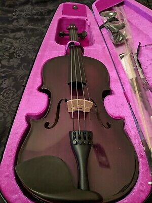 Ashton Violin 4/4 Full Size Purple Brand New Beginner Starter Kit Case Bow Inc