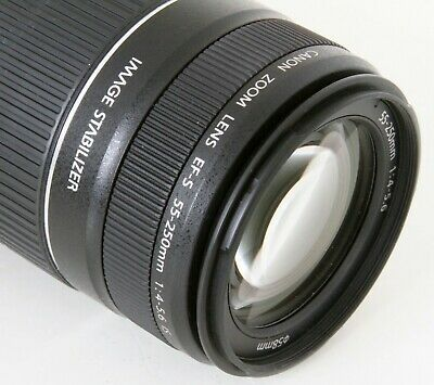 Canon EF-S 55-250mm F/4-5.6 Telephoto IS Zoom Lens, Clean, Expedited Shipping #1