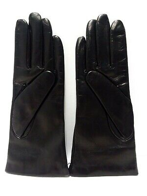 Fratelli Orsini Everyday Women's Italian Silk/Cashmere Lined Leather Gloves sz 7
