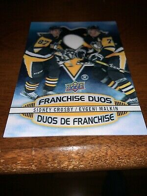 2019-20 Tim Hortons Ud Franchise Duos #D-18 Pittsburgh Crosby - Malkin Sp Rare