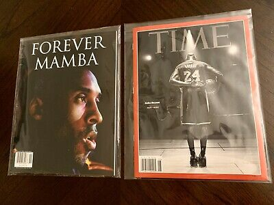 Ship Now New Kobe Bryant Time & Forever Mamba Magazine Set Special Packaging
