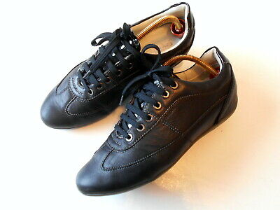 GEOX Respira Ladies Black Leather Lace Up Comfort Shoes Size 4 UK/ 37 EUR