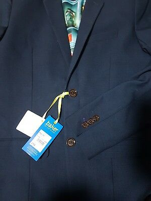 BNWT TED BAKER Boys Navy Blue Check Occasion Suit Jacket / Blazer, 13yrs RRP £56