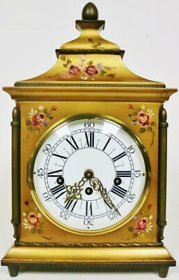 Hermle Musical Bracket Clock Westminster Chime Vernis Martin 8 Day Mantel Clock