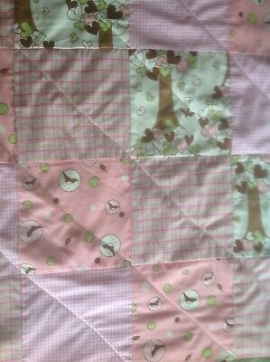 Handmade Cot Quilt/ Knee Rug Approx 80 X 90 Cm