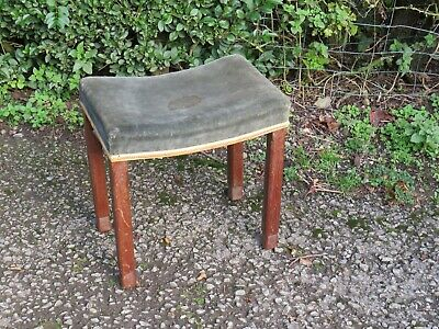 VERY RARE ORIGINAL KING GEORGE VI CORONATION STOOL 1937 LIMED OAK Free delivery