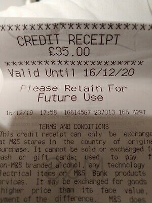 Marks And Spencer M&S Credit Voucher £35 Expires 16/12/20