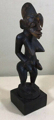 Antique Hand Carved African Coast Wooden Fertility Figurine Statue